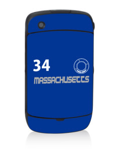 Massachusetts Black Berry 8530 Curve Skin