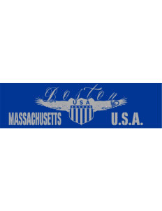 "Massachusetts Bumper Sticker 11"" x 3"""