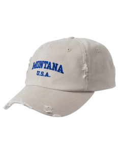 Montana Embroidered Distressed Cap