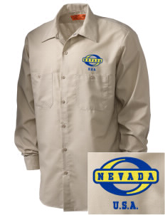 Nevada Embroidered Men's Industrial Work Shirt - Regular