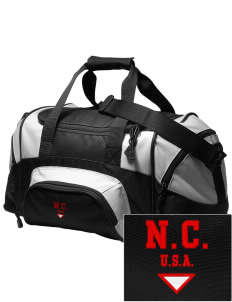 North Carolina Embroidered Small Colorblock Duffel