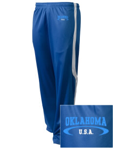 Oklahoma Embroidered Holloway Men's Tricotex Warm Up Pants