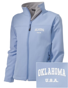 Oklahoma Embroidered Women's Soft Shell Jacket