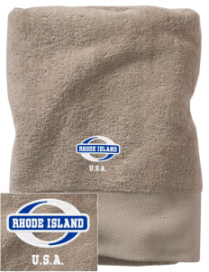 Rhode Island Embroidered Zero Twist Resort Towel
