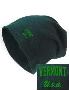 Vermont Embroidered Slouch Beanie