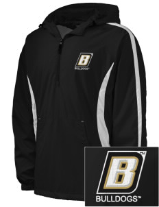 Bryant University Bulldogs Embroidered Men's Colorblock Raglan Anorak