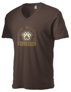 Bryant University Bulldogs Alternative Men's 3.7 oz Basic V-Neck T-Shirt