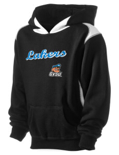 Grand Valley State University Lakers Kid's Pullover Hooded Sweatshirt with Contrast Color