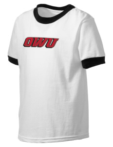 Ohio Wesleyan University Battling Bishops Kid's Ringer T-Shirt