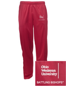Ohio Wesleyan University Battling Bishops Embroidered Men's Tricot Track Pants