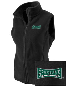 Castleton State College Spartans Embroidered Women's Fleece Vest