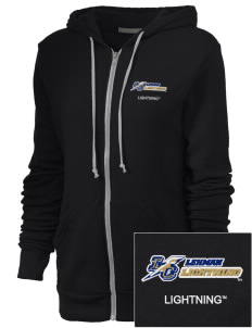 Lehman College Lightning Embroidered Alternative Unisex The Rocky Eco-Fleece Hooded Sweatshirt