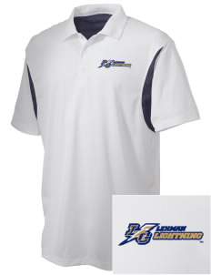 Lehman College Lightning Embroidered Men's Back Blocked Micro Pique Polo