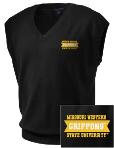 Missouri Western State University Griffons Embroidered Men's Fine-Gauge V-Neck Sweater Vest