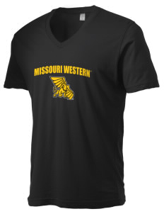 Missouri Western State University Griffons Alternative Men's 3.7 oz Basic V-Neck T-Shirt