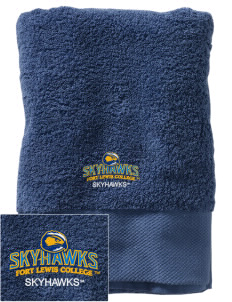 Fort Lewis College Skyhawks Embroidered Zero Twist Resort Towel