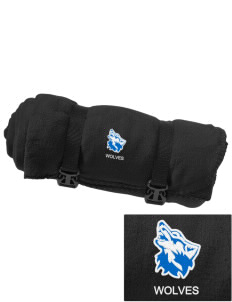 Cheyney University Wolves Embroidered Fleece Blanket with Strap