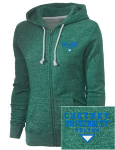 Cheyney University Wolves Embroidered Women's Marled Full-Zip Hooded Sweatshirt