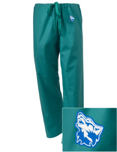Cheyney University Wolves Embroidered Scrub Pants