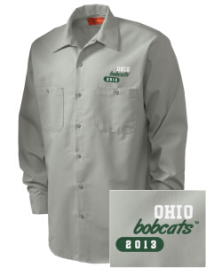 Ohio University Bobcats Embroidered Men's Industrial Work Shirt - Regular