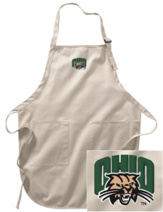 Ohio University Bobcats Embroidered Full-Length Apron with Pockets