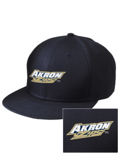 The University of Akron Zips  Embroidered New Era Flat Bill Snapback Cap