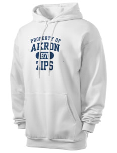 The University of Akron Zips Men's 7.8 oz Lightweight Hooded Sweatshirt