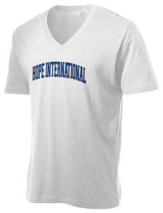 Hope International University Royals Alternative Men's 3.7 oz Basic V-Neck T-Shirt