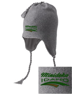 Minidoka National Historic Site Embroidered Knit Hat with Earflaps