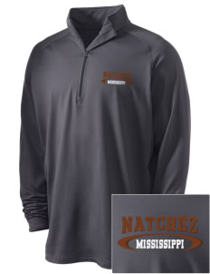 Natchez National Historical Park Embroidered Men's Stretched Half Zip Pullover