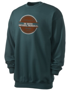 De Soto National Memorial Men's 7.8 oz Lightweight Crewneck Sweatshirt
