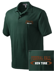 Federal Hall National Memorial Embroidered Men's Jersey Polo