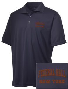 Federal Hall National Memorial Embroidered Men's Double Mesh Polo