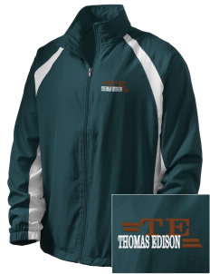 Thomas Edison National Historical Park  Embroidered Men's Full Zip Warm Up Jacket