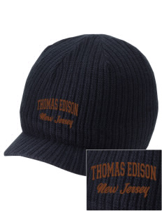 Thomas Edison National Historical Park Embroidered Knit Beanie with Visor