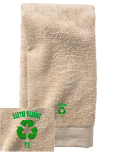 Barton Warnock Visitors Center  Embroidered Zero Twist Resort Hand Towel