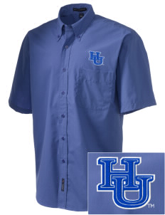 Hampton University Pirates  Embroidered Men's Easy-Care Shirt