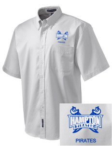 Hampton University Pirates Embroidered Men's Easy Care Shirt