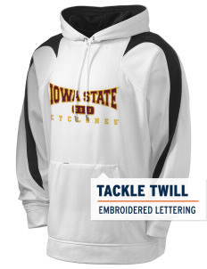 Iowa State University Cyclones Holloway Men's Sports Fleece Hooded Sweatshirt with Tackle Twill