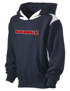 Aleknagik Kid's Pullover Hooded Sweatshirt with Contrast Color
