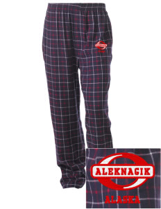 Aleknagik Embroidered Unisex Button-Fly Collegiate Flannel Pant