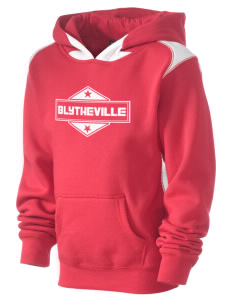 Blytheville Kid's Pullover Hooded Sweatshirt with Contrast Color