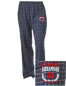 Blytheville Embroidered Unisex Button-Fly Collegiate Flannel Pant