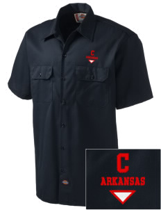Cushman Embroidered Dickies Men's Short-Sleeve Workshirt