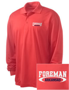 Foreman Embroidered Men's Long Sleeve Micropique Sport-Wick Sport Shirt