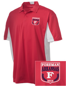 Foreman Embroidered Men's Side Blocked Micro Pique Polo