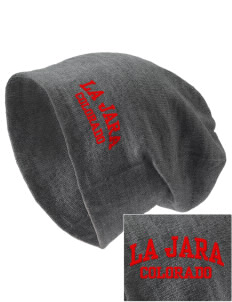La Jara Embroidered Slouch Beanie