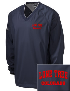 Lone Tree Embroidered adidas Men's ClimaProof V-Neck Wind Shirt