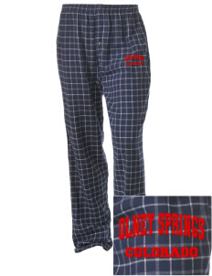 Olney Springs Embroidered Unisex Button-Fly Collegiate Flannel Pant
