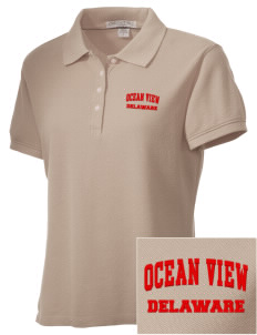 Ocean View Embroidered Women's Performance Plus Pique Polo